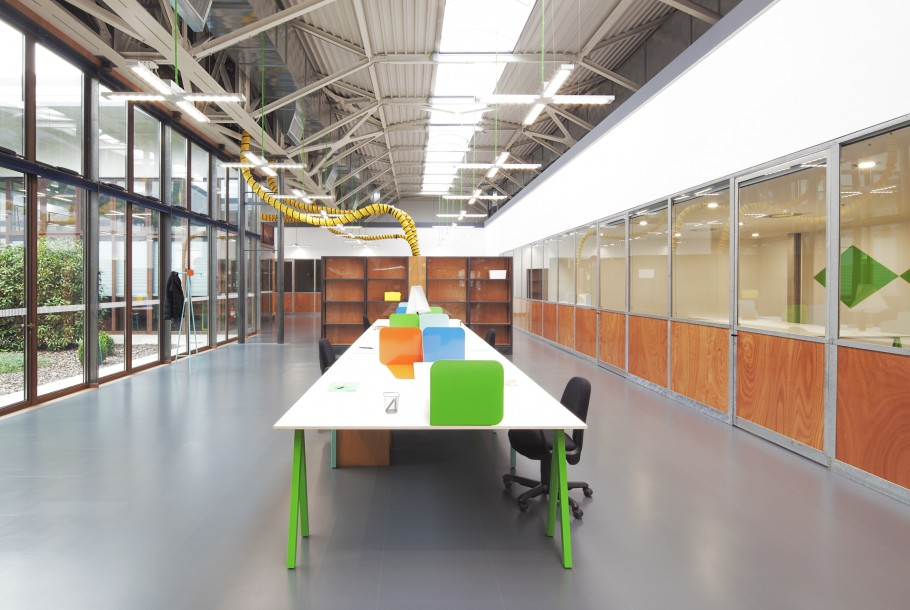Benetton Group Office Interior Fabrica Features
